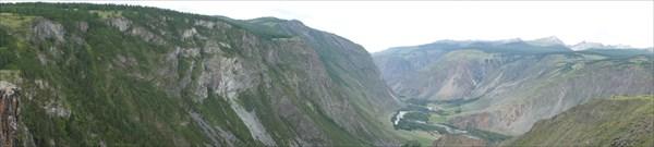 Панорама долины.
