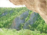 Вид из Голубиной пещеры