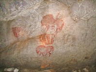 Копии наскальных рисунков эпохи палеолита