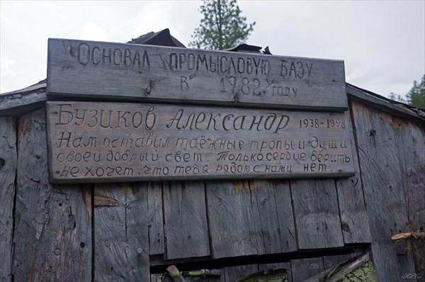 Памятная табличка основателю базы
