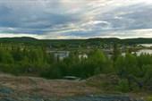 Вид на поселок Чкаловский и Чупскую губу