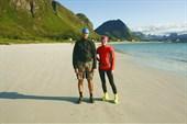 Макс и Алёна на пляже Ramberg`а