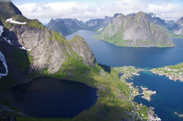 Вид с Reinebringen на Reinefjorden