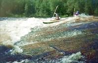 1995г. Река Охта. Карелия.