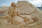 Выставка песчаных скульптур в Лаппеенранте