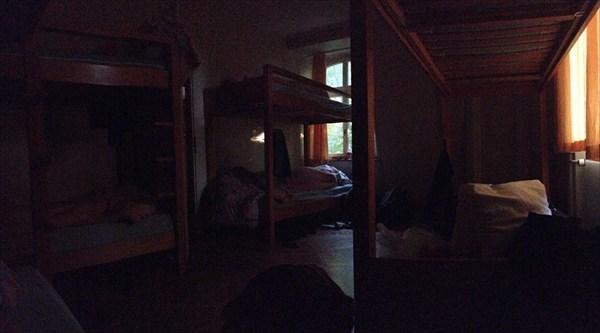 В хостеле.