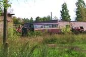 вагон узкоколейки в Васильевском мху