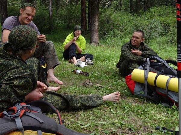 Привал перед озером н.Шавлинское