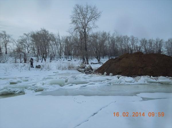 Тут мы вышли на лёд после ГЭС