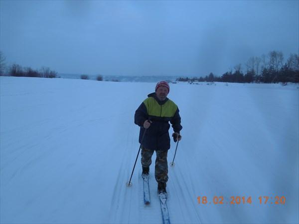 Хорошо идти по следу от снегохода