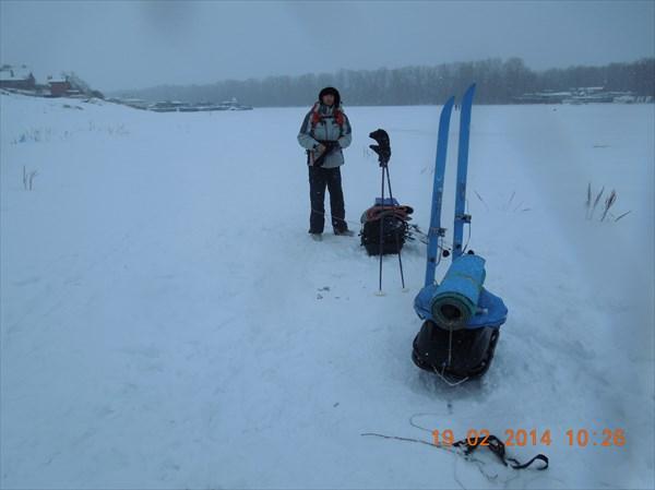 Рождествено. К походу готовы, но +3 и снег липкий...