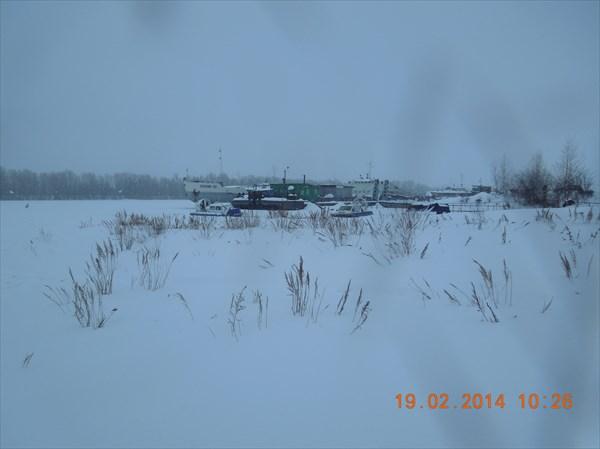 Пристань села Рождествено