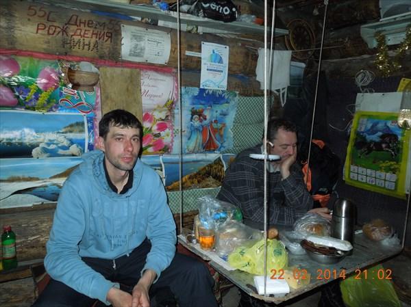 В избушке Николая Зверева в Задельном овраге