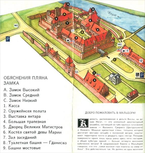 План польского замка Мальборк