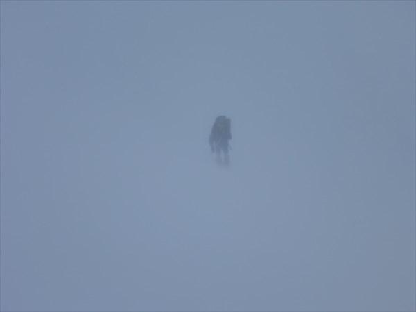 Когда поднимались на Ворткеуайв, видимость была почти нулевая