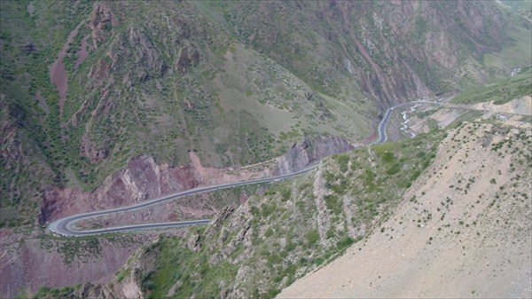Серпантины перевала Тео-Ашуу