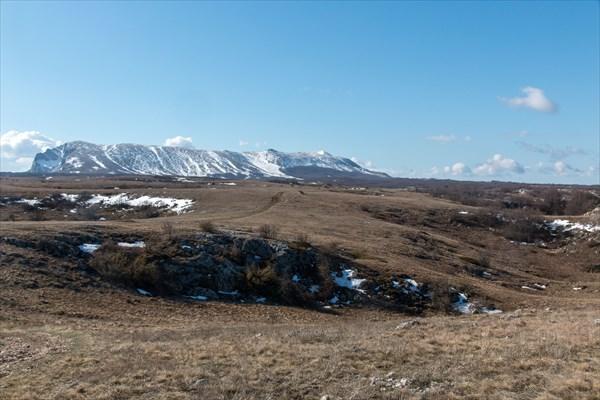 Вид на верхнее плато Чатыр-дага
