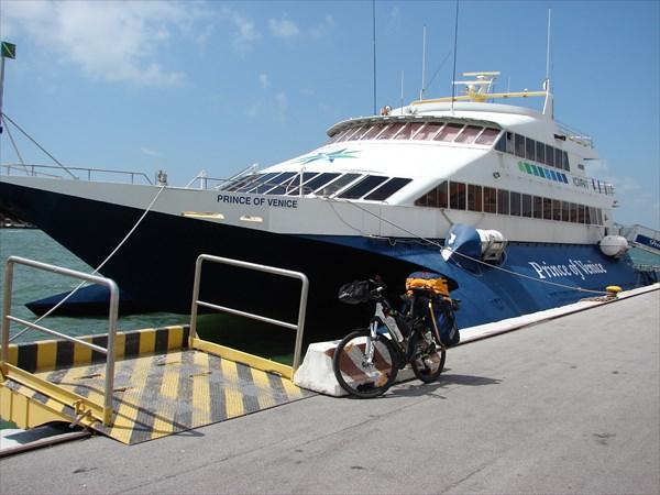 Кораблем из Пореча(Хорватия) в Венецию