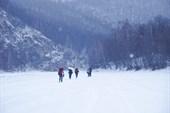 Заброска.По льду Зилима, стараясь держаться его левого берега.