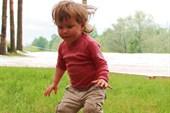 Училась прыгать с пенька