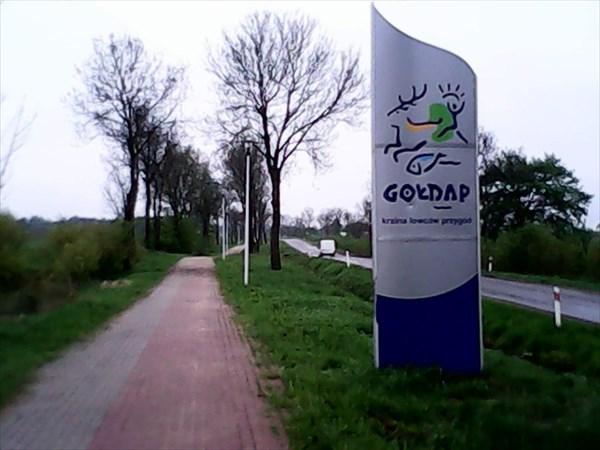 Велодорожка на выезде из Голдапа.