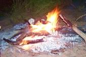 Снова огонь вечернего костра