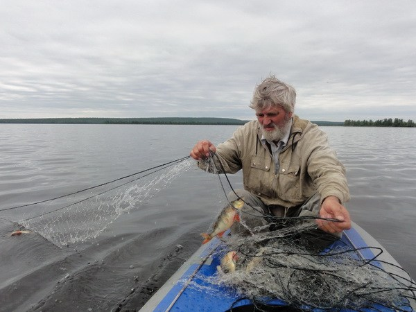 Удачная рыбалка.