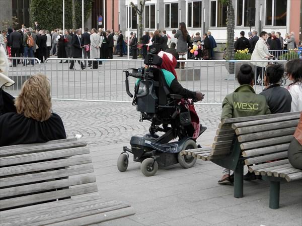 На праздник приехали и инвалиды