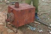 Печка, которая может топиться и дровами, и кирпичами:)