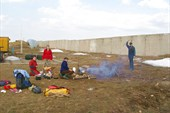 Наш лагерь на `точке`