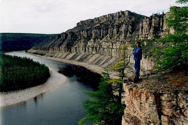 Река Анабар Карта