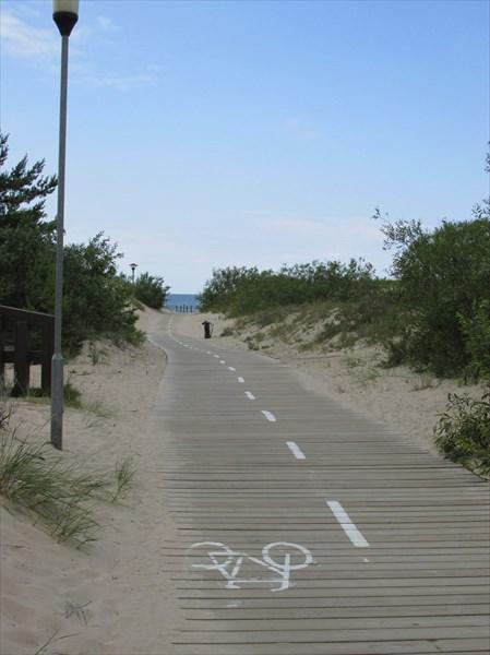 Велодорожка на пляж