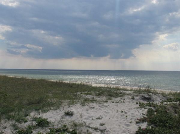 Вид с дюны, где нет забора