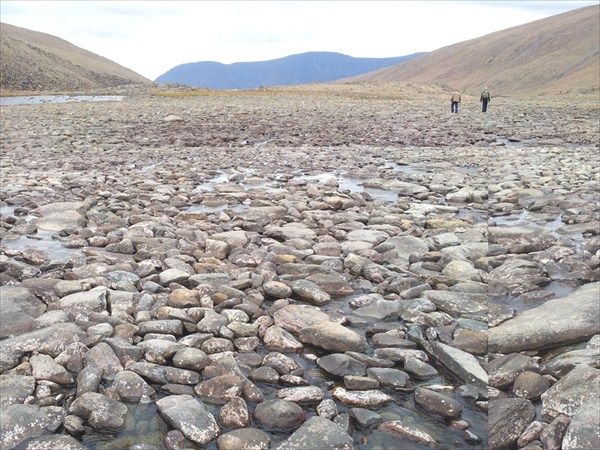 Каменистое дно реки
