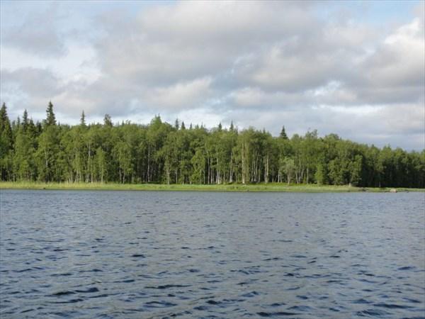 Губа Чупа, болотистый северный берег