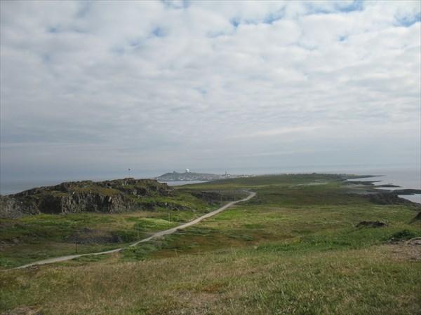 Вид на г. Вордё с нежилой части острова