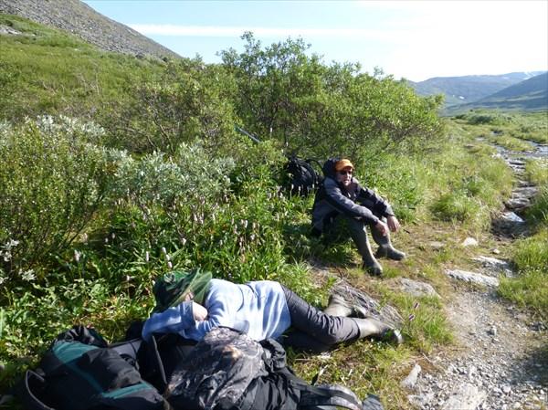 1,5 км от старта - однако устали