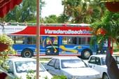 Туристический автобус в Барадеро