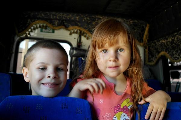 С нами в маршрутке ехали дети