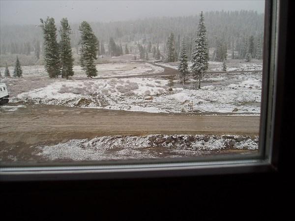 Вид из окна общежития