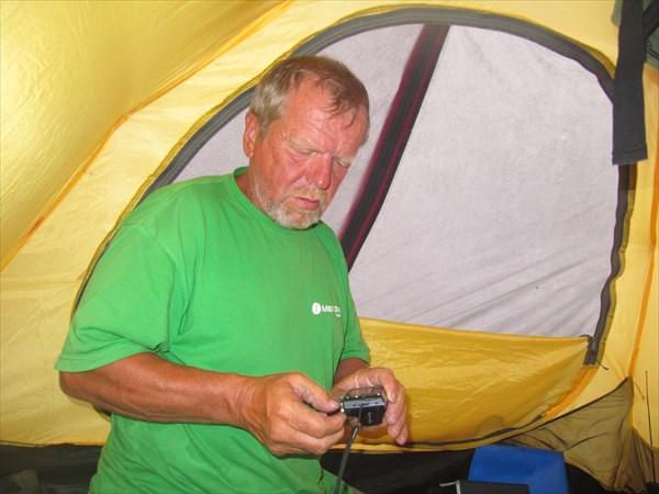 В родной палатке
