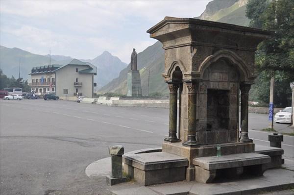 Центральная площадь в Казбеги