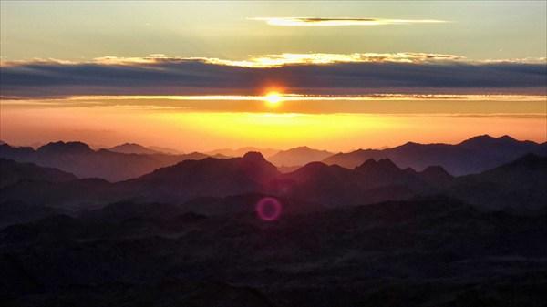 Встреча солнца на горе Моисея