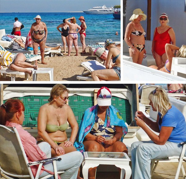 Красивые русские на пляжах Египта