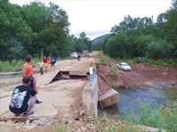 Смытый мост на обратной дороге