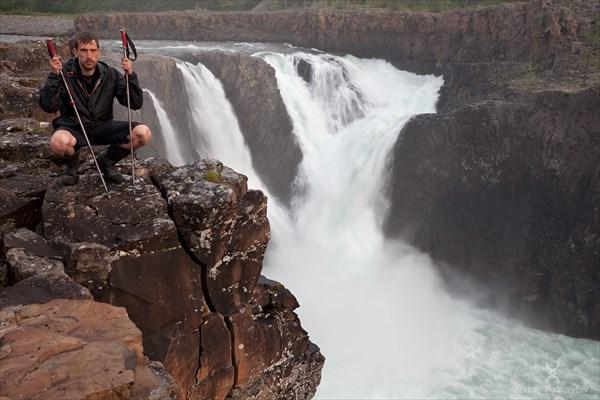 Автопортрет. Иркингдинский водопад (Китобо-Орон). Плато Путорана