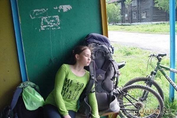 Дочка отдыхает