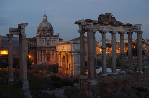 Вид на Римский Форум с Капитолийского холма