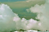дырка в облаках на спуске