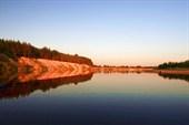 река Клязьма. Закат